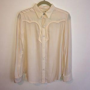 Western Silk Blouse